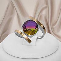 """Красивое кольцо из серебра 925 пробы и аметрином """"Пекин"""""""
