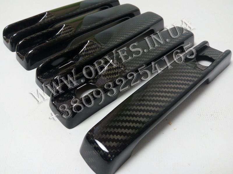Карбоновые накладки на ручки Mercedes G-class W463a/W464 (комплект 5шт)