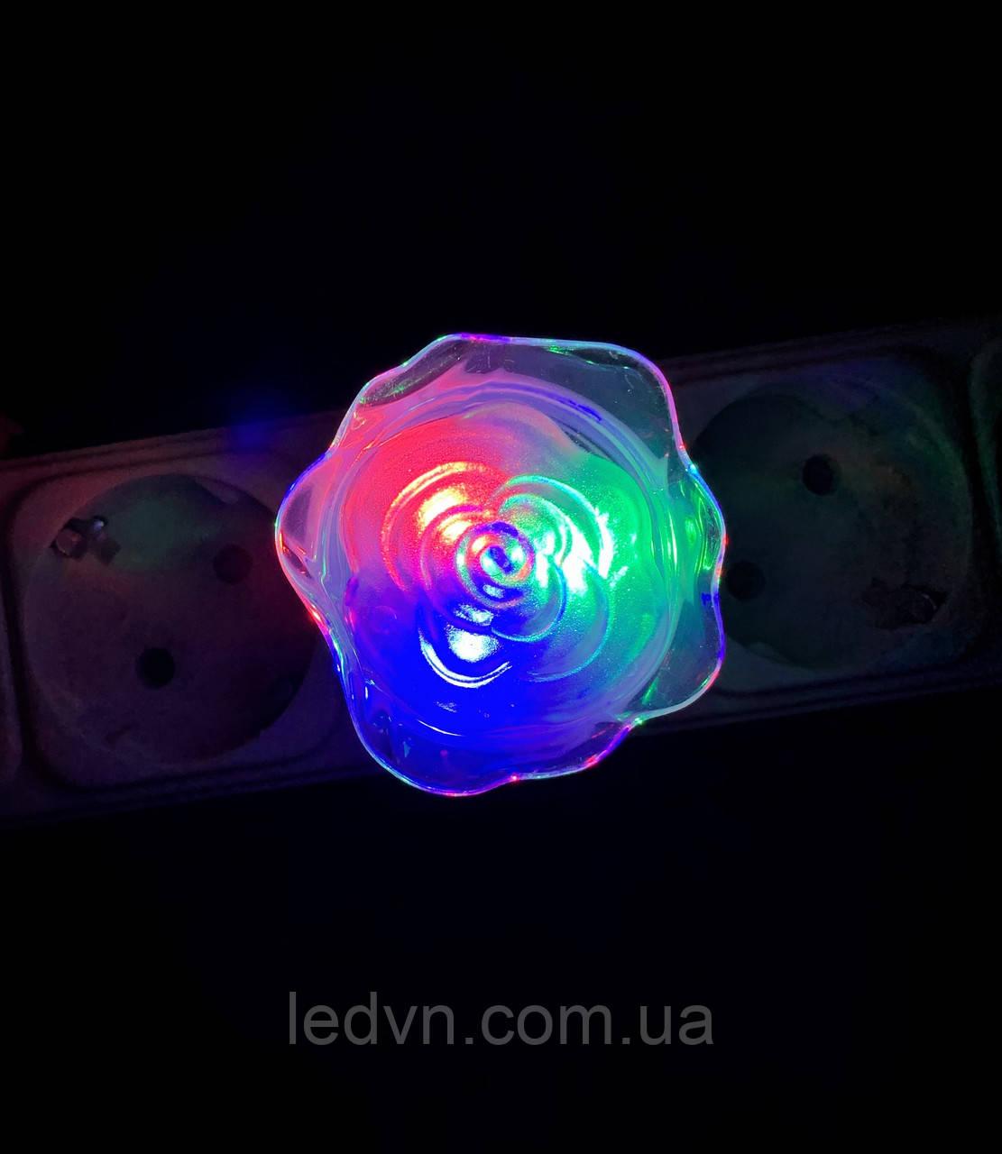 Детский ночник роза LED