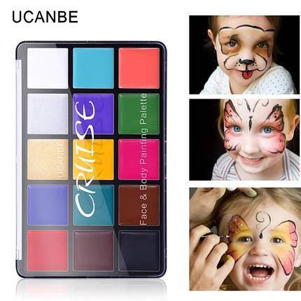 """УЦЕНКА! Краски для боди арта масляные набор 15 цветов """"CRUIZE"""", фото 2"""