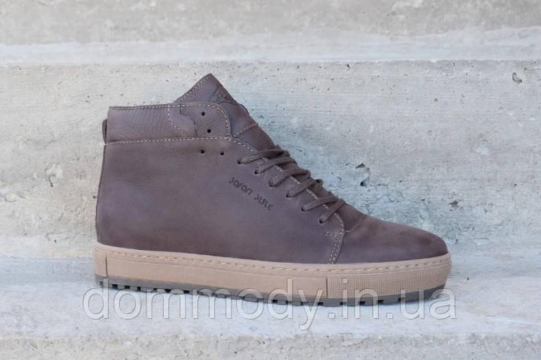 Ботинки мужские коричневого цвета Warm winter зимние