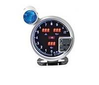 Додатковий прилад Ket Gauge LED7787 тахометр температура води і масла тиск масла