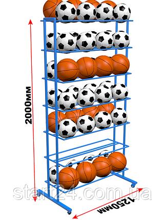 Стеллаж для мячей двухсторонний ( на 56, 84, 112 шт мячей), фото 2