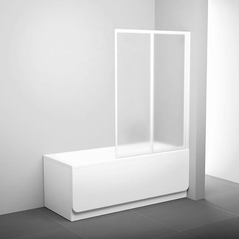 Штора д/ванни VS 2  105  Грейп, профіль білий, скло