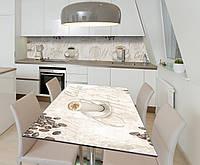 Наклейка 3Д виниловая на стол Zatarga «Чашка Кофе» 650х1200 мм для домов, квартир, столов, кофейн, кафе