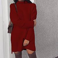Свободное теплое ангоровое платье Больших размеров