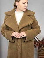 Женская шуба из эко меха Ева коричневая, фото 1