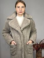 Женская шуба из эко меха Скайлер серая, фото 1