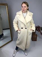 Женская шуба из эко меха Токио белая, фото 1