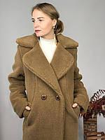 Женская шуба из эко меха Токио коричневая, фото 1