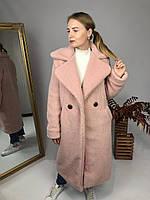 Женская шуба из эко меха Токио розовая, фото 1