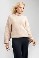 Теплый лаконичный свитер в цвете шампань, фото 1