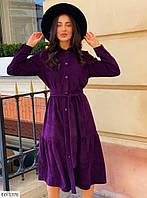 Жіноча сукня з мікровельвету