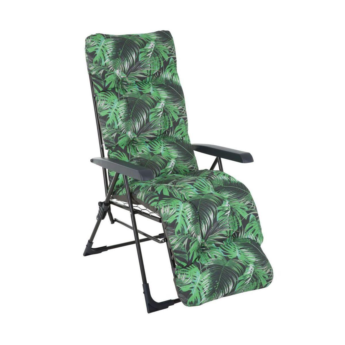 Крісло-шезлонг  з підніжкою MALAGA PLUS 153х48х6/8 см