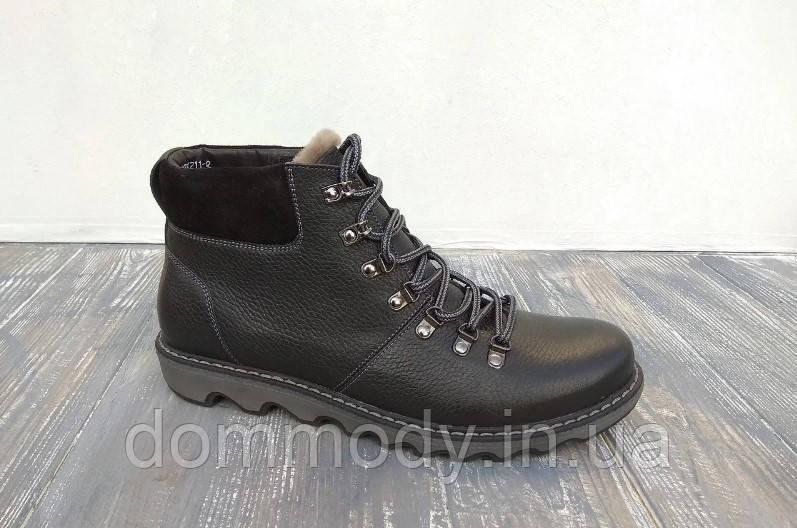 Зимние ботинки мужские черного цвета