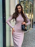Женское шерстяное розовое платье, фото 4