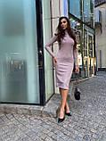 Женское шерстяное розовое платье, фото 2