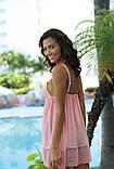 Excellent beauty nightdress u-830 розовый пеньюар, фото 3