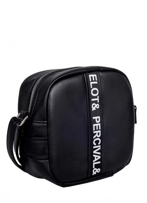 Lb Женская модная сумка из экокожи Sambag CBrl кроссбоди черная стильная практичная трендовая через плечо