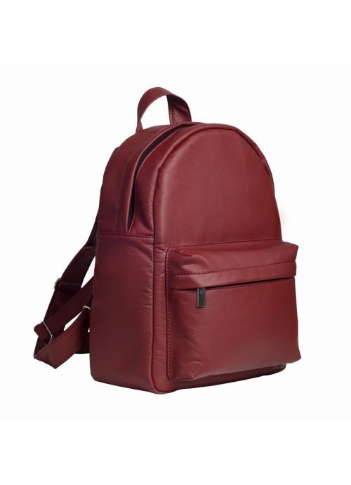 Жіночий модний міський рюкзак з екошкіри Sambag Brix BB бордо практичний маленький міні стильний
