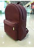 Жіночий модний міський рюкзак з екошкіри Sambag Brix BB бордо практичний маленький міні стильний, фото 7