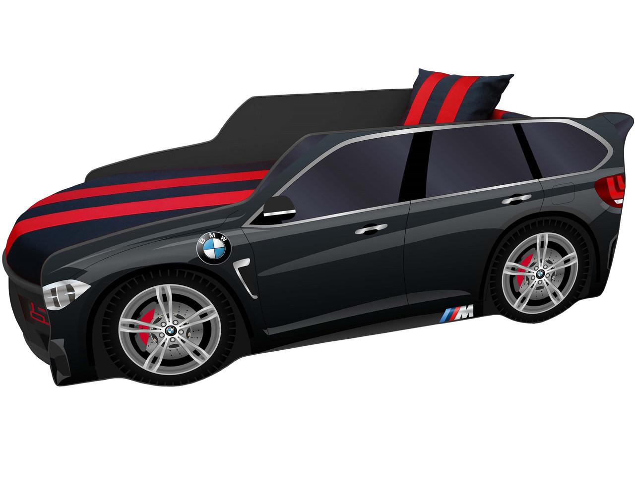 Детская кровать - машина  Premium / Премиум P002 с мягким спойлером и подъемным механизмом ТМ Viorina-Deko