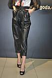Женские кожаные штаны джоггеры ,черные,Турция, фото 5