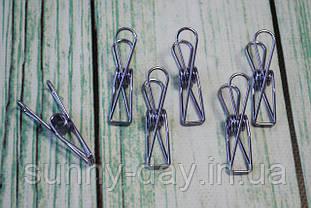 Прищіпки металеві 55х15 мм колір - бузковий