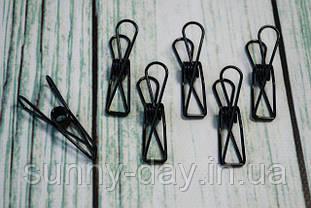 Прищепки металлические 55х15 мм цвет - черный