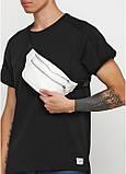 Lb Мужская сумка на пояс бананка из эко-кожи Sambag Tirso MSSm белая на 2 молнии поясная через плечо нагрудная, фото 3