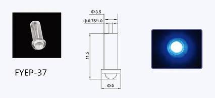 Оптоволоконный наконечник для волокна диаметром 0,75/1мм