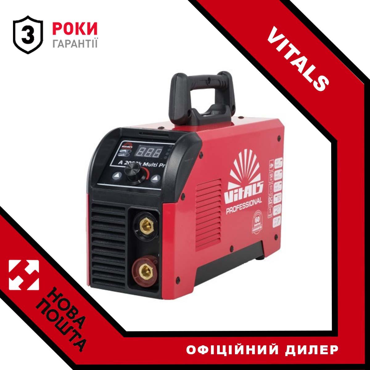 Зварювальний інвертор 200 А, Латвія Vitals Professional A 2000k Multi Pro