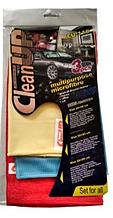 Комплект салфеток микрофибра из 3 шт CleanUP 30*35