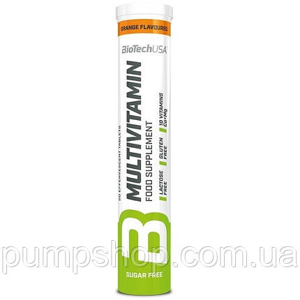 Вітаміни універсальні BioTech USA Multivitamin Effervescent 20 таб. апельсин, фото 2
