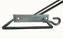 Кронштейн  Ф40мм  длина 350мм 35 градусов С КРЮКОМ для квадратных опор для светильников уличного освещения