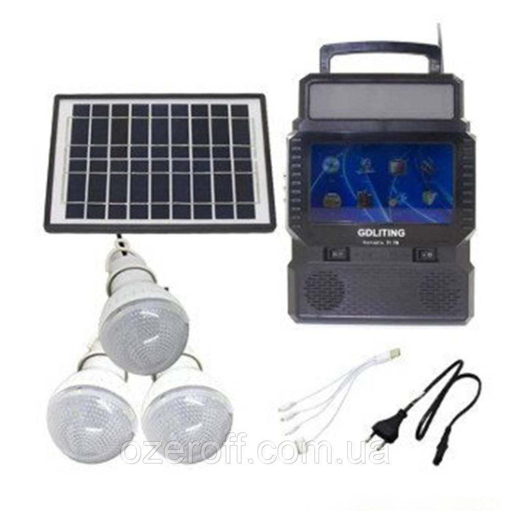 Ліхтарик на сонячній батареї GDLITING GD 8086