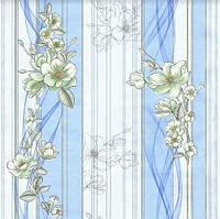 Обои бумажные Эксклюзив 068-02 голубой, фото 1