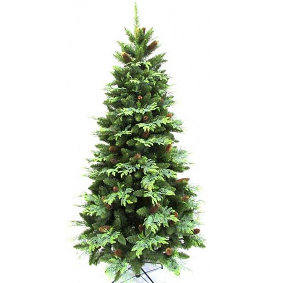Искусственная елка «Амелия» 2,5 м, комбинированная 250 см из пленки ПВХ и литых веток