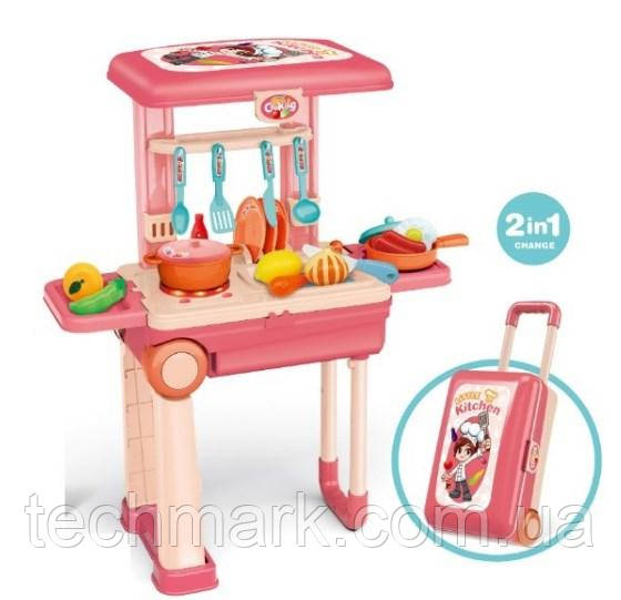 Набор игровой Детская игровая кухня Little Раскладной столик и чемодан 2в1