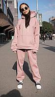 Женский теплый костюм на флисе осень-зима трехнитка цвет Лиловый \ Размеры: S/ M/ L/ XL
