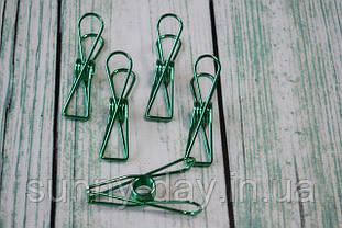 Прищепки металлические 75х18 мм цвет - зеленый