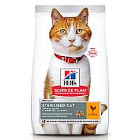 Сухий корм для стерилізованих кішок Hills Science Plan Young Adult Sterilised Cat 10 кг (курка)