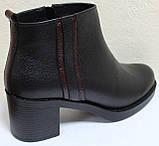 Ботинки деми женские на каблуке кожаные большого размера от производителя модель БР23БВ, фото 3