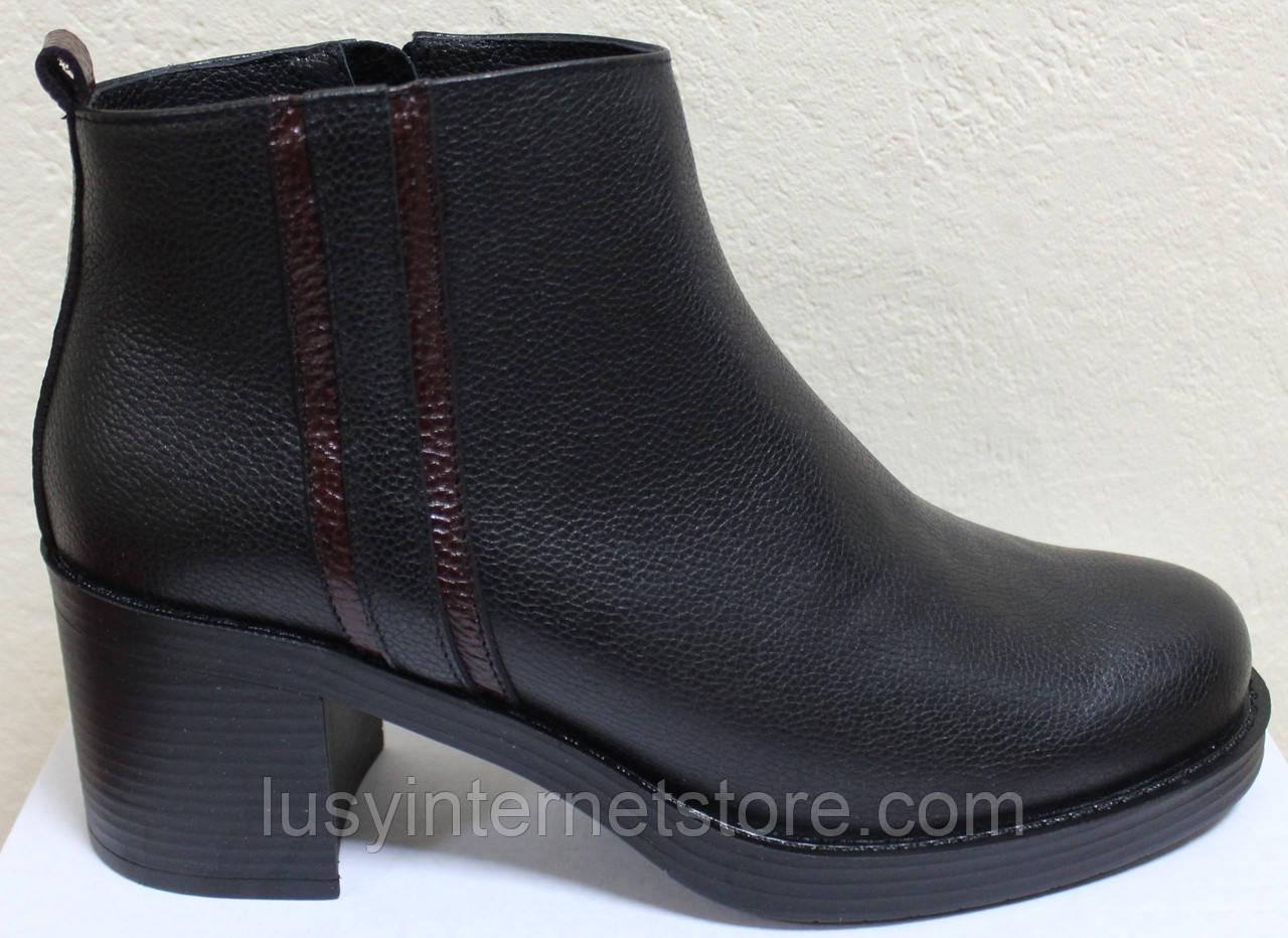 Ботинки деми женские на каблуке кожаные большого размера от производителя модель БР23БВ