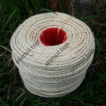 Канат сизалевый 8 мм х 100 м | Веревка сизалевая для когтеточки ➤ дряпки ➤ котов | Мотузка сизальова, фото 2