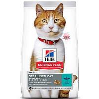 Сухий корм для стерилізованих кішок Hills Science Plan Young Adult Sterilised Cat 10 кг (тунець)