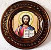 """Деревянная тарелка (икона) """"Иисуса Христа"""""""