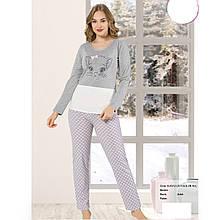 Піжама жіноча бавовняна з брюками Котик Seyko Туреччина S-M, L-XL