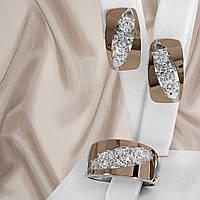 Срібний жіночий набір прикрас з золотими пластинами Арія, фото 1