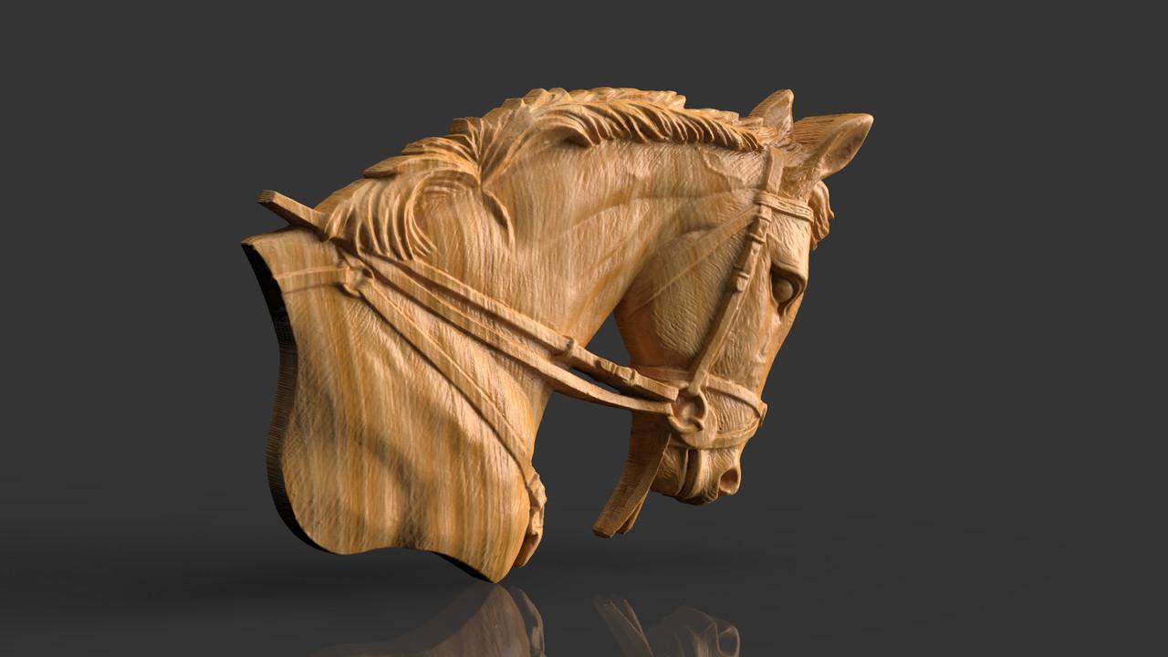 Барельеф Голова коня 2